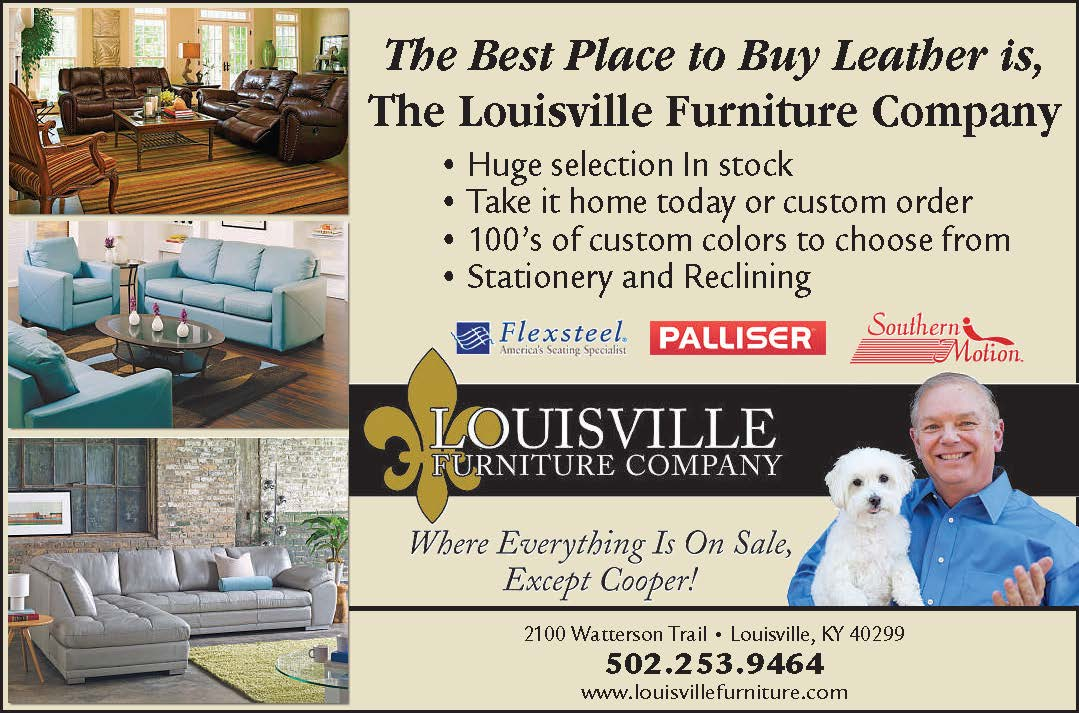 Louisville Furniture leather ad